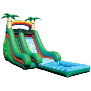 Inflatable Tropical-Slide-With-Pool