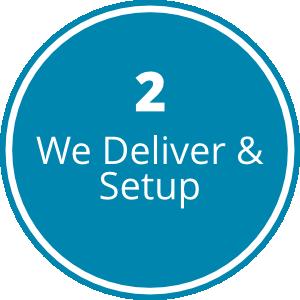 Step2-We Deliver & Setup